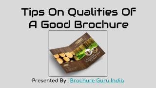 Tips On Qualities Of A Good Brochure