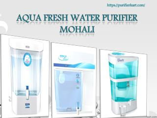 Aqua fresh water purifier Mohali