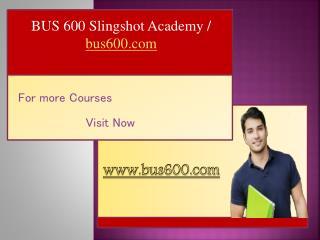BUS 600 Slingshot Academy / bus600.com