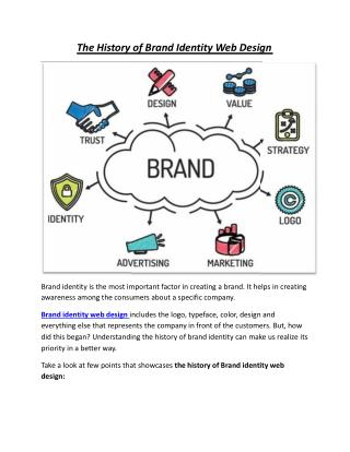 The History of Brand Identity Web Design
