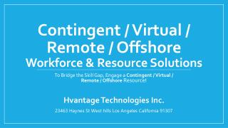 Contingent workforce solutions back office
