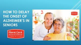 How to Delay the Onset of Alzheimer's in Seniors