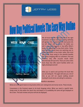 Now Buy Political Novels The Easy Way Online