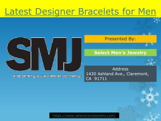 Latest Designer Bracelets for Men