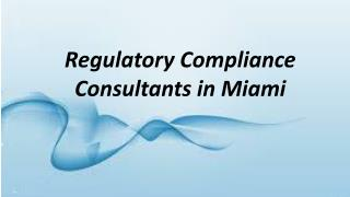 Regulatory Compliance Consultants in Miami