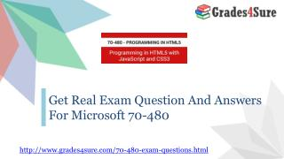 Get Real Exam Question And Answers For Microsoft 70-480