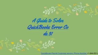 QuickBooks Error 31