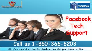 Where is Facebook Tech Support available 1-850-366-6203?