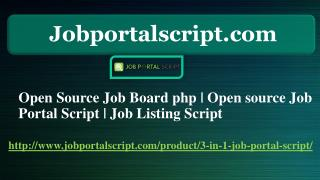 Open Source Job Board php | Open source Job Portal Script | Job Listing Script