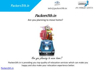 Packers5th.in Packers and Movers Detailed Transfer Services