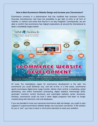 How to Best Ecommerce Website Design and Increase your Conversions
