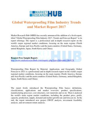 Global Waterproofing Film Industry Trends and Market Report 2017