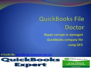 QuickBooks File Doctor-Repair Comapny File