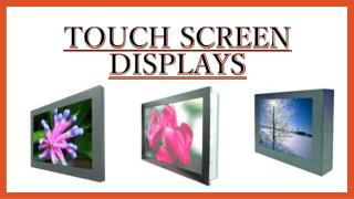Touch Screen Displays - innova.se