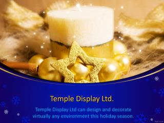 Pole Mounted Christmas Decorations | Templedisplay.com
