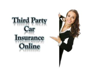 Third Party Car Insurance Online