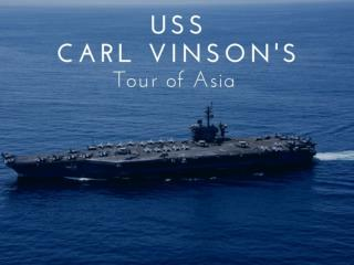 USS Carl Vinson's tour of Asia