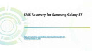 SMS Recovery for Samsung Galaxy S7