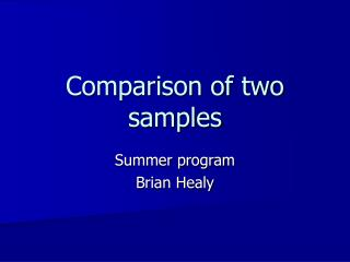 Comparison of two samples
