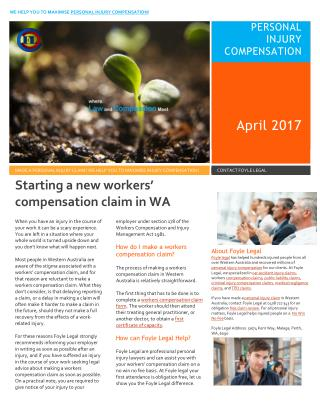Starting a new workers' compensation claim in WA