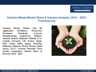 PPT for Calcium Nitrate Market Forecast, 2017- 2024