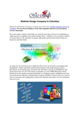 Website Design Company in Columbus
