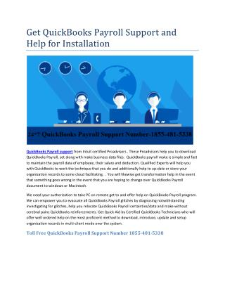 Get QuickBooks Payroll Support and Help for Installation