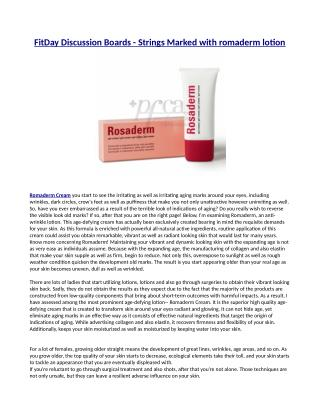Just how Does Romaderm Cream Work?