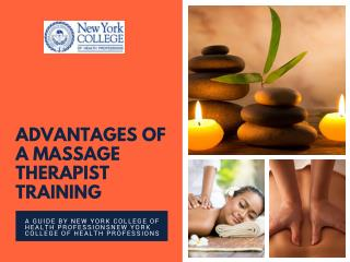 New York College of Health Professions - Advantages of a Massage Therapist Training