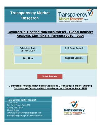 Commercial Roofing Materials Market: Offer Lucrative Growth in Urbanizations and Flourishing Construction Sector, By 202