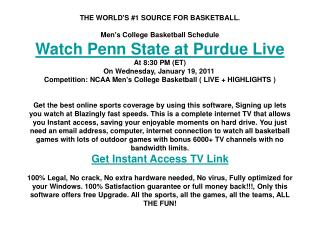 Penn State at Purdue live | Men's College BB | NCAA sports T