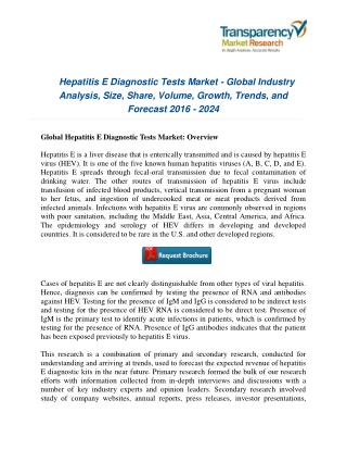 Hepatitis E Diagnostic Tests Market : Competitive Landscape, Technological Breakthroughs & Industry Analysis – 2024