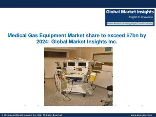 Global Medical Gas Equipment Market to grow at 7.7% CAGR from 2016 to 2024