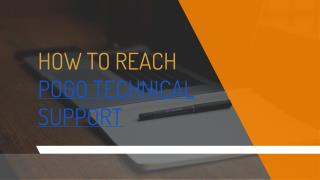 Pogo Technical Support 1-844-745-1521