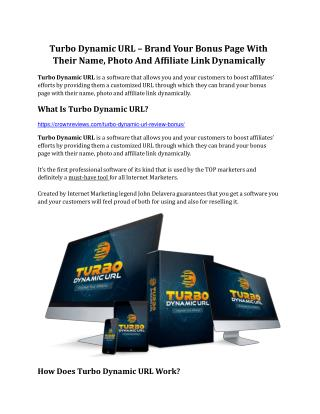 Turbo Dynamic URL Review & GIANT Bonus