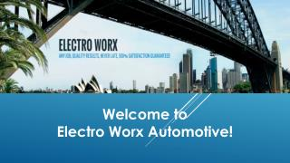 Electro Worx Automotive - Mobile Auto Electrician