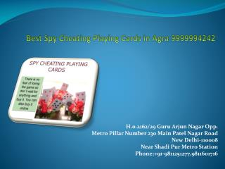 Best Spy Cheating Playing Cards in Agra 9999994242