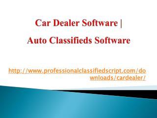 Car Dealer Software   Auto Classifieds Software
