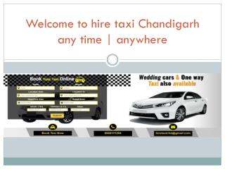 Taxi from Chandigarh to Gurgaon
