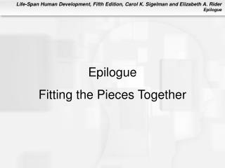 Epilogue Fitting the Pieces Together