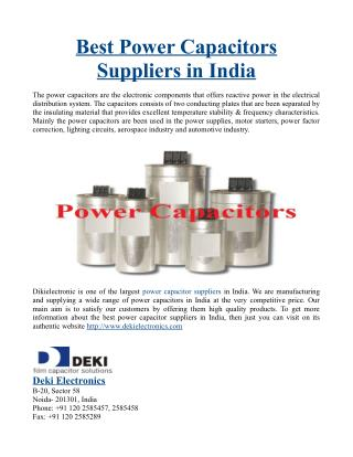Best Power Capacitors Suppliers in India