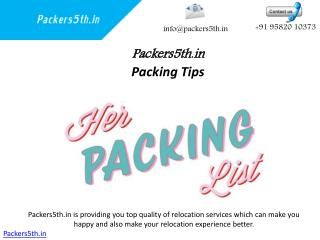 Packers5th.in Packers And Movers in Noida's Experienced Local Services