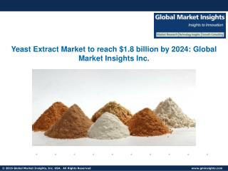 Yeast Extract Market share to grow at 5.5% from 2016 to 2024