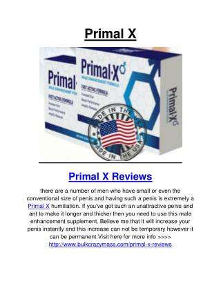 Primal X Reviews, Price and Free Trial