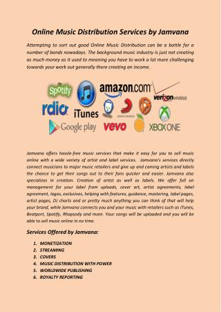 Online Music Distribution Services by Jamvana