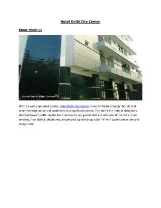 Hotel Delhi City Centre