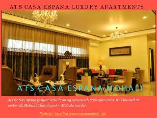 Ats Casa Espana Mohali flat price | 9872076706