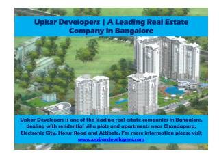 Upkar Developers   Real Estate Companies in Bangalore