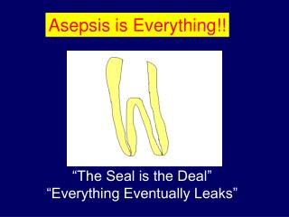 Asepsis is Everything!!