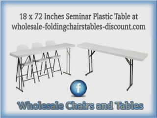 18 x 72 Inches Seminar Plastic Table at wholesale-foldingchairstables-discount.com